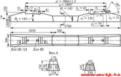 Шпала железобетонная подтипа Ш3Д (Ш3-Д) ГОСТ 33320-2015