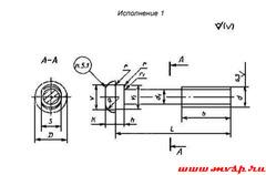Стыковой болт жд Г11530 М22х135 1 8g 20 МКР-1
